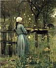 A Girl in A Meadow by William Stott