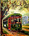 2011 New Orleans St Charles Streetcar by Diane Millsap painting