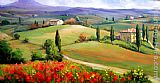 2011 Tuscany panorama painting