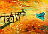 2012 boat and jetty pier painting