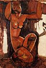 Amedeo Modigliani Caryatid 1 painting