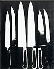 Knives black and white