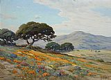 Angel Espoy California Lupines and Poppies painting