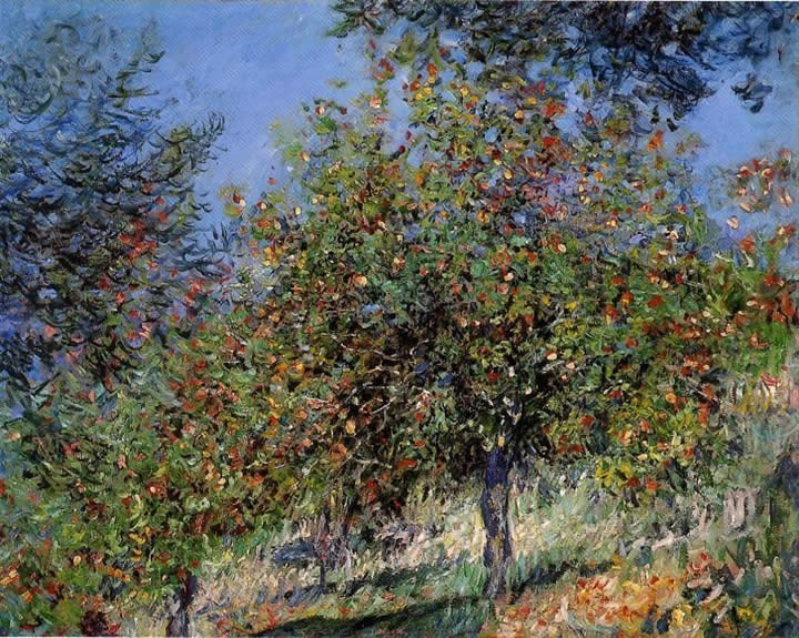 Claude Monet Apple Trees on the Chantemesle Hill