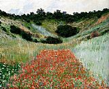 Claude Monet Poppy Field In A Hollow Near Giverny painting