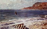 Claude Monet Sailing At Sainte-Adresse painting