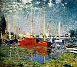 Claude Monet The Red Boats painting