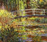 Cottage paintings - The Water Lily Pond by Claude Monet