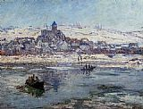 Claude Monet Vetheuil in Winter painting