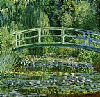 Cottage paintings - Water Lily Pond by Claude Monet