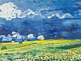 Vincent van Gogh Wheatfield under a Cloudy Sky painting