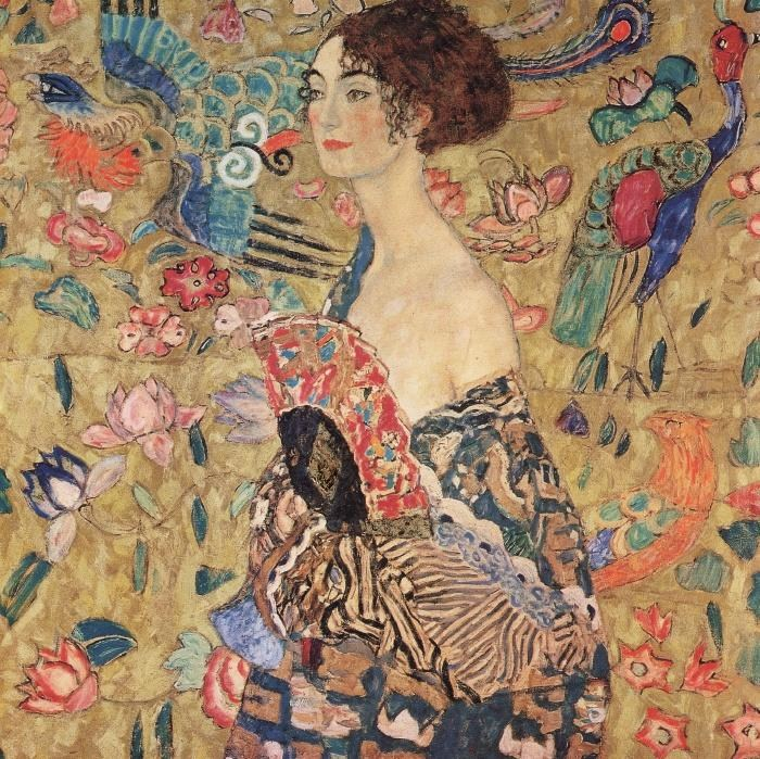 Gustav Klimt Donna con ventaglio (Woman with Fan)