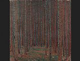 Gustav Klimt Fir Forest painting