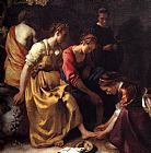 Johannes Vermeer Diana and her Companions painting