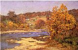 John Ottis Adams Blue and Gold painting