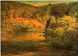 John Ottis Adams The Ebb of Day aka The Bank painting