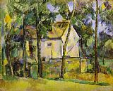 Paul Cezanne House and Trees painting
