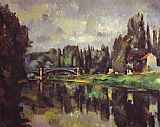 Paul Cezanne The Banks of the Marne painting