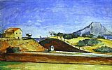 Paul Cezanne The Railway Cutting painting