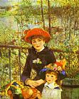Pierre Auguste Renoir Two Sisters (On the Terrace) painting