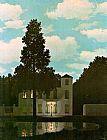 Cottage paintings - The Empire of Light by Rene Magritte