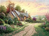 Cottage paintings - A Peaceful Time by Thomas Kinkade