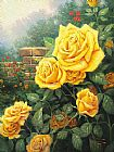 Cottage paintings - A Perfect Yellow Rose by Thomas Kinkade