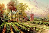 Cottage paintings - Abundant Harvest by Thomas Kinkade
