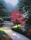 Thomas Kinkade Afternoon Light Dogwood painting