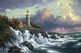 Thomas Kinkade Conquering the Storms painting