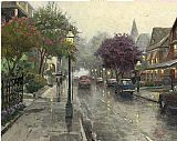 Thomas Kinkade Jackson Street, Cape May painting