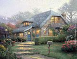 Thomas Kinkade Lilac Cottage painting
