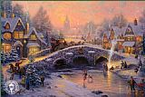 Cottage paintings - Spirit of Christmas by Thomas Kinkade