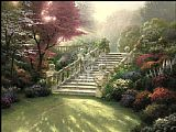 Cottage paintings - Stairway to Paradise by Thomas Kinkade