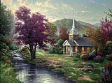 Cottage paintings - Streams of Living Water by Thomas Kinkade