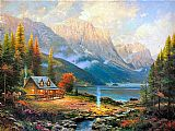 Cottage paintings - The Beginning of a Perfect Day by Thomas Kinkade