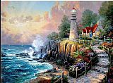 Cottage paintings - The Light of Peace by Thomas Kinkade