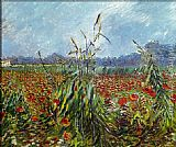 Vincent van Gogh Field with Poppies 2 painting
