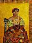 Vincent van Gogh The Italian Woman painting