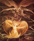 William Blake The Great Red Dragon and the Woman Clothed with Sun painting