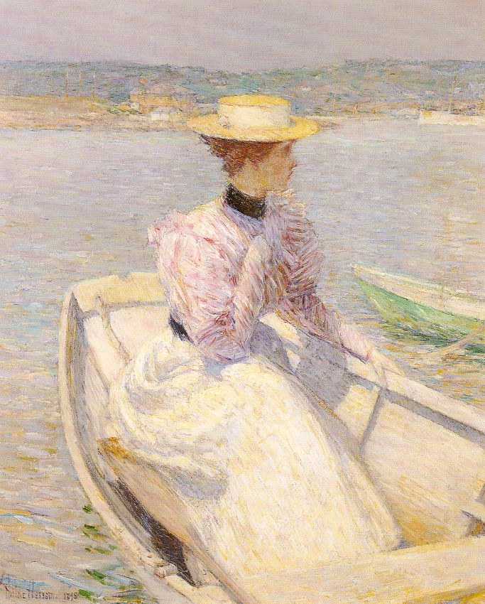 childe hassam The White Dory Gloucester