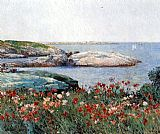 childe hassam Poppies Isles of Shoals painting