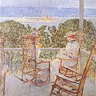 childe hassam Ten Pound Island painting