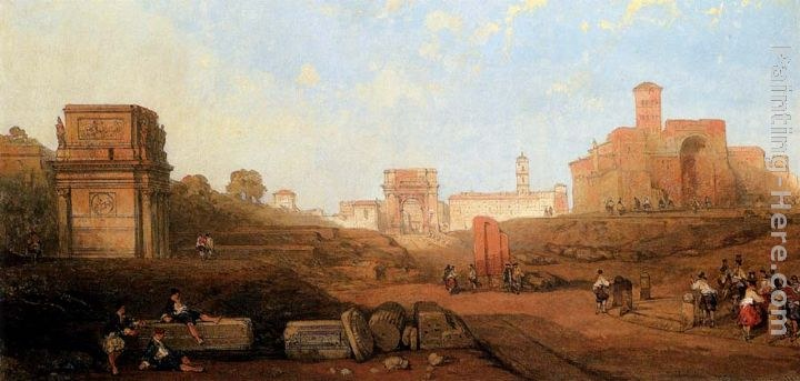 David Roberts The Approach To The Forum
