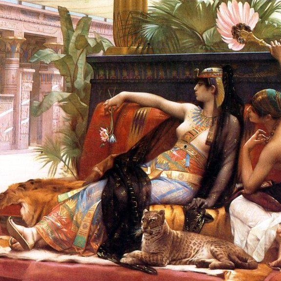 Alexandre Cabanel Cleopatra Testing Poisons on Condemned Prisoners cropped