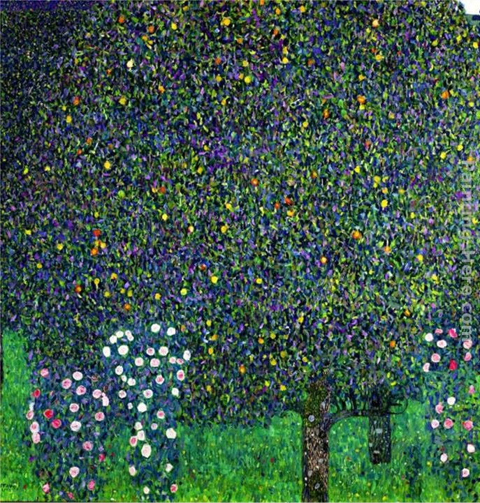 Gustav Klimt Roses Under the Trees, circa 1905