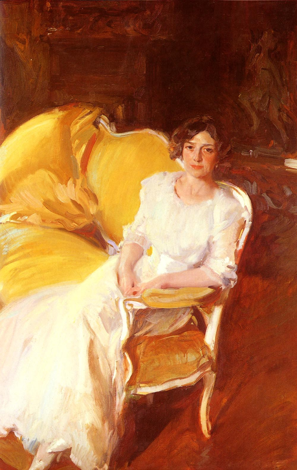 Joaquin Sorolla y Bastida Clotilde Seated on the Sofa