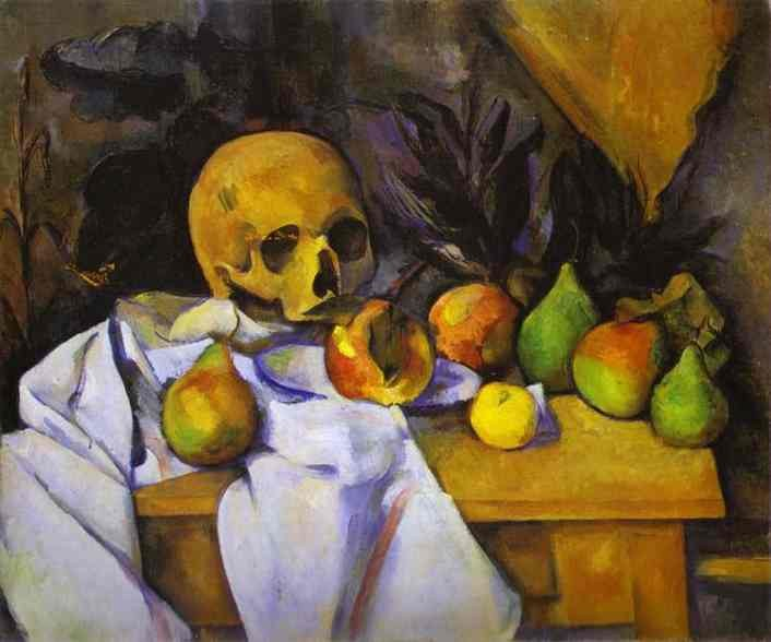 Paul Cezanne Still Life with a Skull