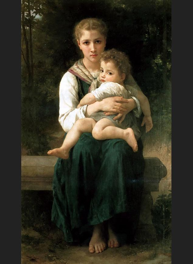 William Bouguereau The Two Sisters