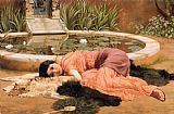 Cottage paintings - Dolce far niente by John William Godward